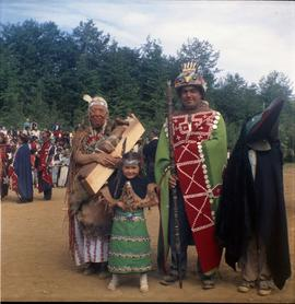 Group in ceremonial dress, Alert Bay