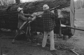 Stripping bark & handshaped pole (& conventional tools)