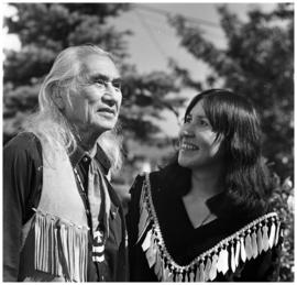 Marie George, with Chief Dan George (?)