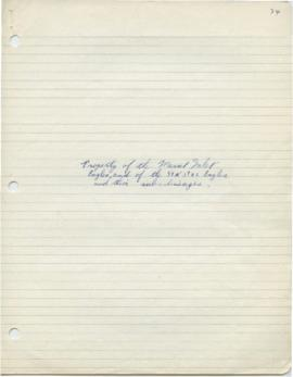 Student's paper - Property of the Masset Inlet Eagles and of the StA stas Eagles and their sub li...