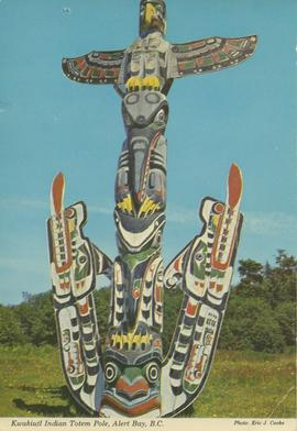 Kwakiutl Indian Totem Pole, Alert Bay, B. C.