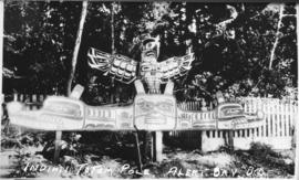 Indian totem pole - Alert Bay, BC