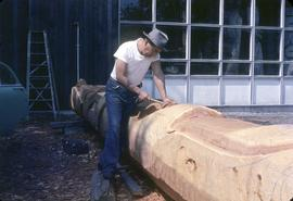 Carving a pole