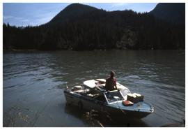 Man on boat near Kingcome Inlet