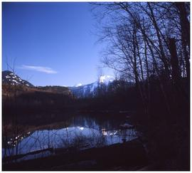 Fraser River and mountain peaks