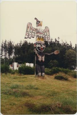 Totem Pole in clearing