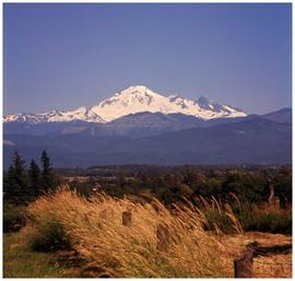 [Mount Baker, see from Fraser Valley]