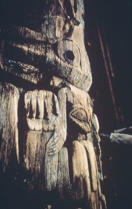 Bear, wolf and frog totem pole, Anthony Island