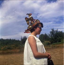 Young woman with headdress, Alert Bay