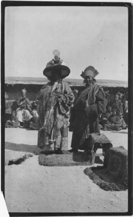 Lama and ABBOT in full ceremonial dress