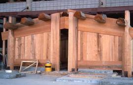 Longhouse with doorway