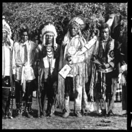 Group portrait of men in native clothing