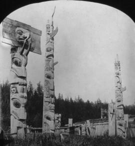 Skidegate Totems -- Q. C. Is.