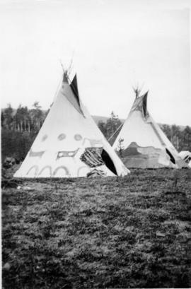 Teepees up for summer living. Morley.