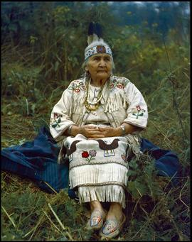 Taha, wife of Chief George Slahholt of the Burrard Reserve [Coast Salish] in North Vancouver and ...