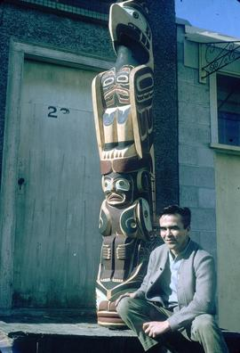 Thunderbird totem pole and Douglas Cranmer