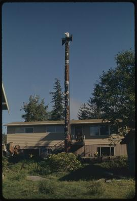 Forest DeWitt Jr. totem pole (newest in) Ketchikan, Alaska