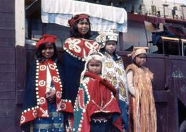Children dressed in regalia