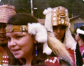 Participants with headdresses