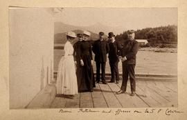 Bessii (?) Kathleen (?) and Officers on U.S. Fort Corwin (?)