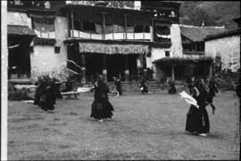 Tibetian Buddhist monks dancing