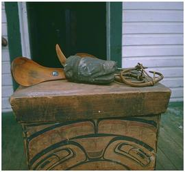 Skidegate [carvings]