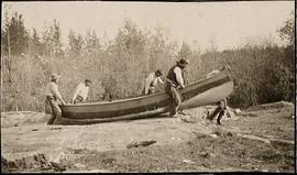 Men Carrying a Boat on the Hayes River
