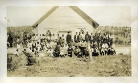 Group photograph outside of St. George's Residential School