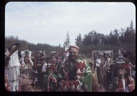 Children and adults in ceremonial dress, Alert Bay