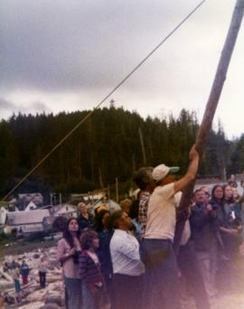 Raising the pole