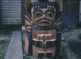 Mosquito Totem Pole, base frontal view