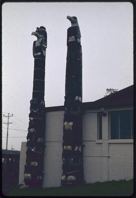 Poles at Museum of Northern British Columbia, Prince Rupert