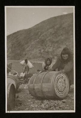 Inuit People Working Freight at Anaulirvik