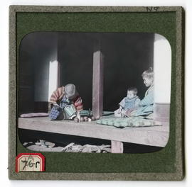 Children on a porch