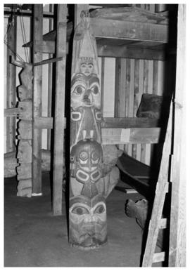 [Carvings, storage area, Museum of Anthropology]