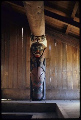 Interior house post, Totem Bite [Bight], Ketchikan, Alaska
