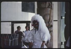 Performer in Tengu mask