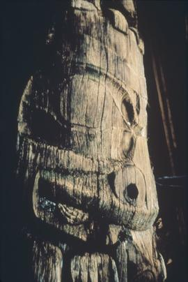 Bear, wolf, and frog totem pole, Anthony Island
