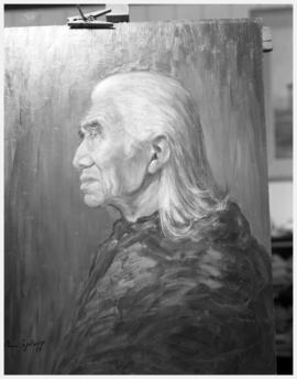 Dan George painting by Minn Sjolseth