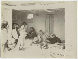 Group inside a dwelling