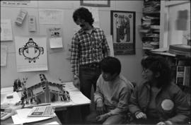 Norman Tait at the Native Education offices