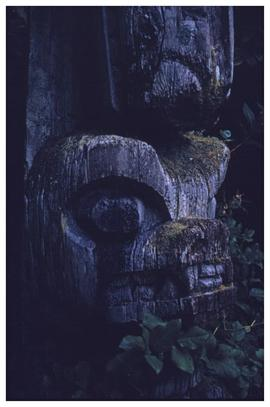 From all over the place, Chiklesaht totem pole