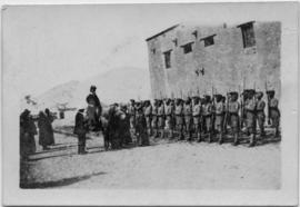 Soldiers standing in rows