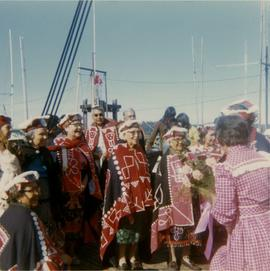 Group in ceremonial dress at unidentified event