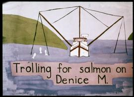 Trolling for Salmon on the Denice M.