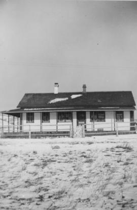 """White"" School on the Reserve, Morley, Alberta"