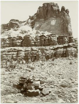 Old Zuni Shrine with Zuni Mesa in the Background