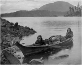 Women in canoe