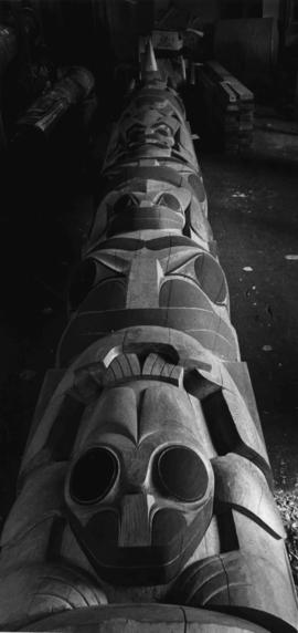 Masset (Haida) pole carved by Jim M. Hart