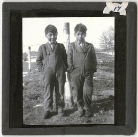 Two Children at Elkhorn Residential School